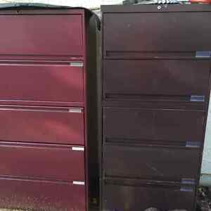 2 LATERAL 4 DRAWER FILING CABINETS