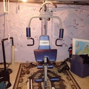 workout equipment in working order, all parts