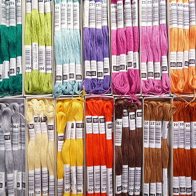 Cotton EMBROIDERY THREAD 60 colours to match our felt
