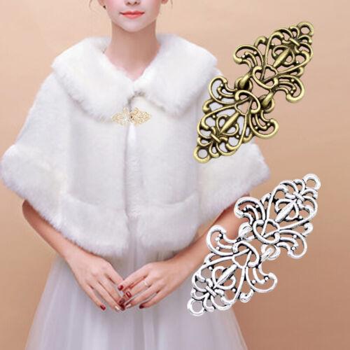 IPOTCH Chic Womens Rhinestone Sweater Clip Holder Sweater Shawl Cardigan Collar Duck Clips Accessory
