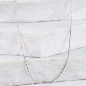 Sterling Silver MEXICO 1mm Snake Chain 3.6g Necklace (17.5)