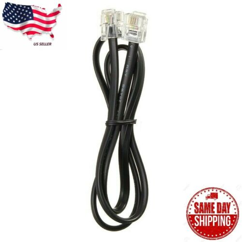 3FT Telephone Line Cord Cable Wire 6P4C RJ11 DSL Modem Fax Phone to Wall Black