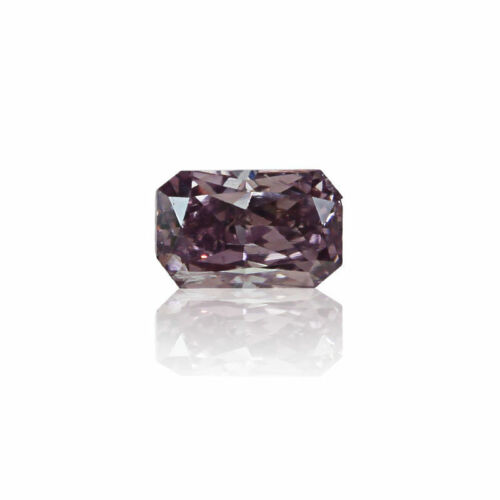 Purple Diamond GIA Certified 0 .14 Ct Natural Fancy Pink Color Radiant Cut Real