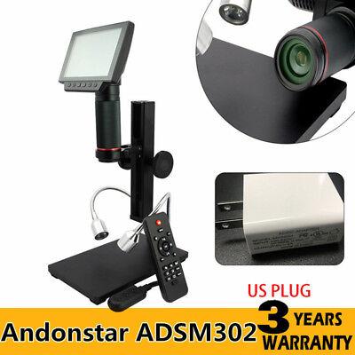 Andonstar Hdmi Digital Microscope Adsm302 5 Screen Pcb Solder Repair Tool Usa