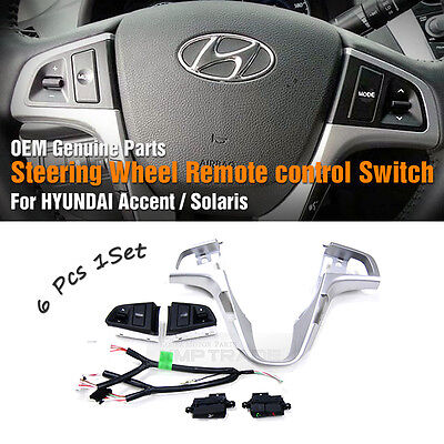 OEM Steering Wheel Remote Control Switch 6P for HYUNDAI 2011-2017 Accent Solaris