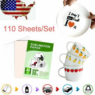 Sublimation Transfer Paper Heat Dye A4 110 Sheets For Printing Diy T-shirt Mug