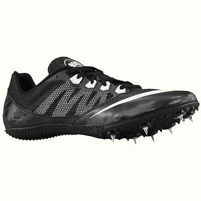 best service 25fd8 bcc09 NIKE ZOOM RIVAL S 7 TRACK SPIKES CLEATS (BLACK WHITE) - 616313-001 - NEW  SIZE 12
