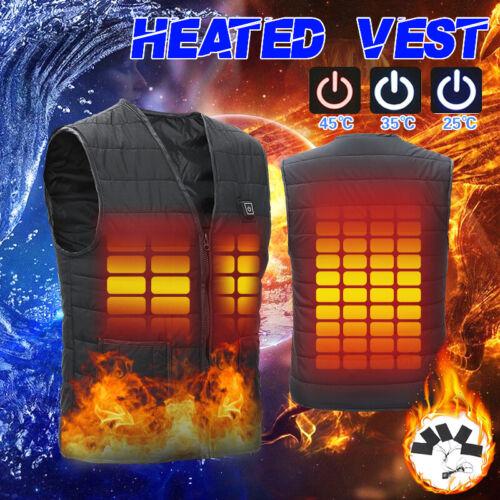 men s women usb heated vest jacket