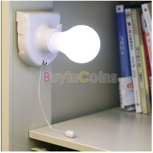 Stick Up Bulb Cordless Battery Operated Light Cabinet Closet Lamp Case Box