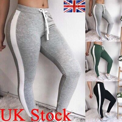 Womens Joggers Jogging Sports Pants Ladies Fitness Gym Slim Fit Bottoms Trousers