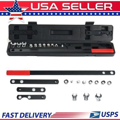 16Pcs Wrench Serpentine Belt Tension Tool Kit Automotive Repair Set Sockets