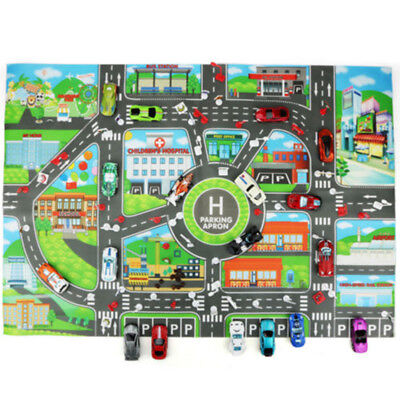Kids Map Educational Toys Toy Car Map children Play Mat Road Buildings Child