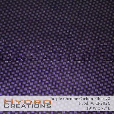 Hydrographic Film Hydro Dipping Water Transfer Purple Chrome Carbon Fiber V2