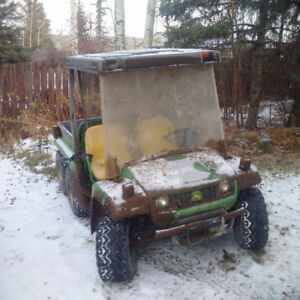 2009 Gator 6x4 diesel only 650 hours; new battery; new chains