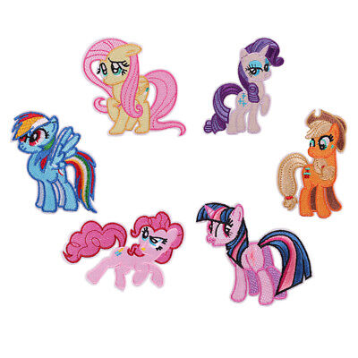 6pcs Amazing My Little Pony Horse Embroidered Iron/Sew ON Patch Cloth Applique - Patch 6 Piece Crib