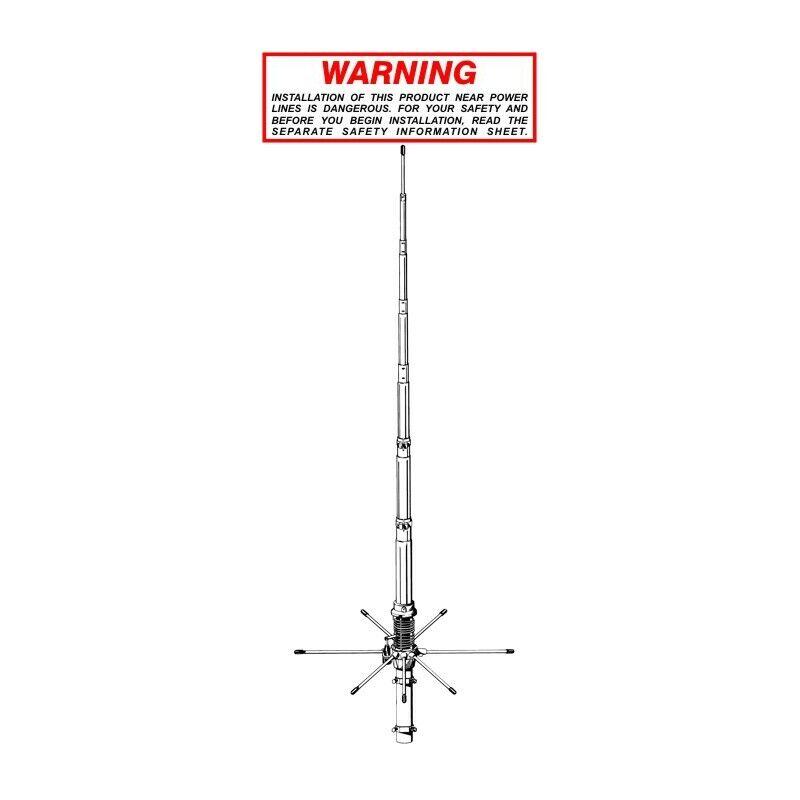 SIRIO 827 - TUNABLE BASE STATION ANTENNA 26.4-28.4 MHZ + Radial Reinforcement Ri