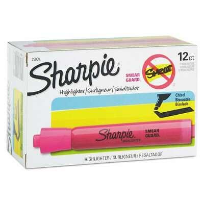 Sharpie Accent Tank Style Highlighter Chisel Tip Pink Dozen 071641250093