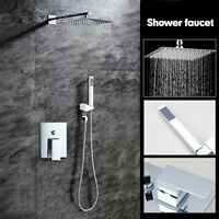 Bathroom Shower Sets 8'' Rainfall Shower Head With Handheld Wall Mounted Mixer - ouboni - ebay.co.uk