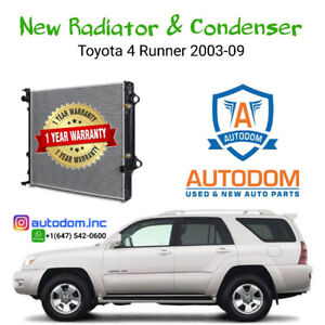 New Radiator and Condenser Toyota 4 Runner 2003-09