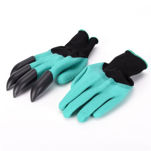 Garten-Handschuhe mit 4 ABS Kunststoff-Krallen für Garten graben Pflanzen AB W0