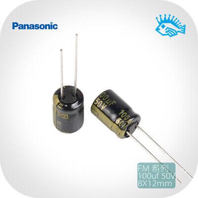 100uf 50v Panasonic Fm Series Low Esr Fever Audio Electrolytic Capacitor 8x12mm