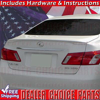 2007-2012 Lexus ES350 ABS Factory Style Spoiler Lip Wing Rear Fin UNPAINTED Chrome Lexus Rear Lights