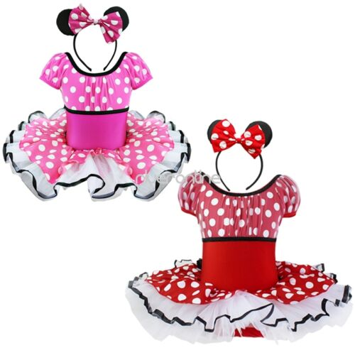baby kinder m dchen prinzessin kost m minnie mouse kleid. Black Bedroom Furniture Sets. Home Design Ideas