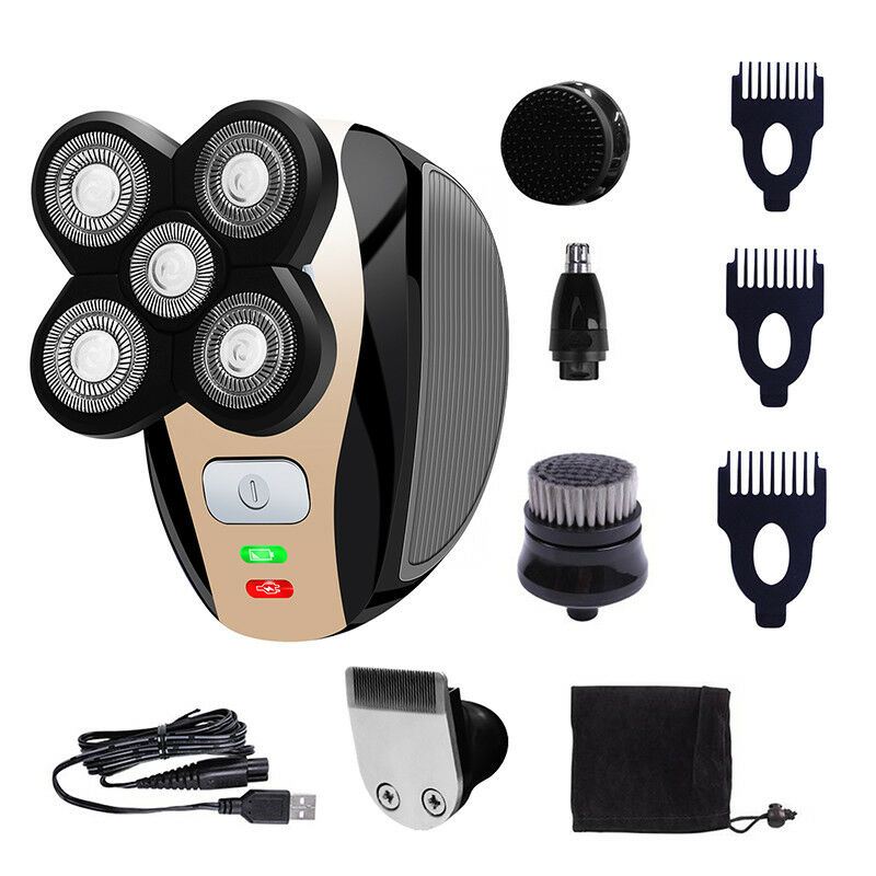 5 IN 1 4D Rotary Shaver Electric Shaver Rechargeable Beard T