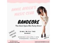 Open Mic with Band this Wednesday in Shoreditch FREE!!