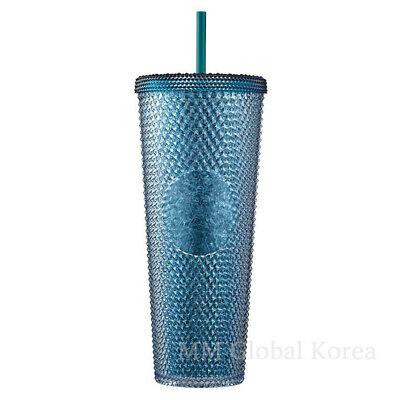 Starbucks 2021 Victory Green Bling Stud Cold Cup Tumbler 710ml Limited Ltd Korea