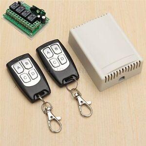 DC 12V 4CH 200M Wireless RF Remote Control Relay Switch 2 Transceiver + Receiver