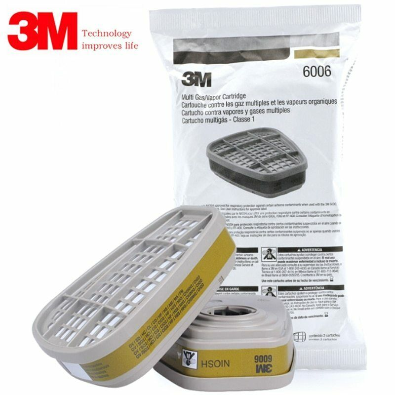 3M 6006 Multi Gas/Vapor Replacement Cartridge, 1 Package Of 2 Cartridges Business & Industrial