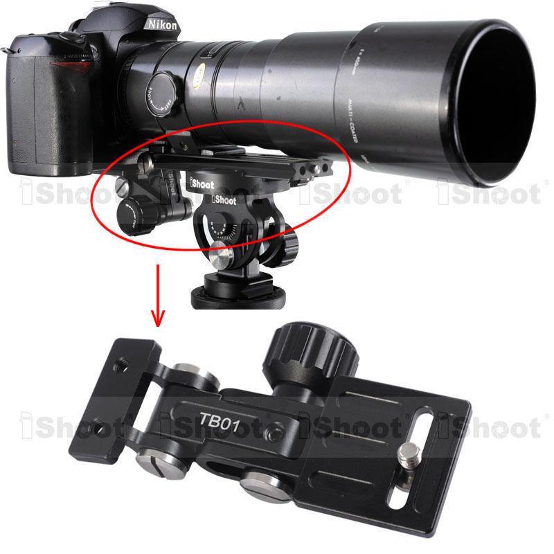 iShoot Telephoto Lens Bracket Long-Focus Holder TB01 for Camera Ballhead QR