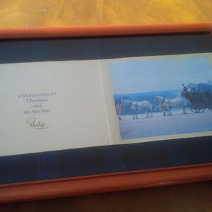 Framed Christmas Card from Prince Philip
