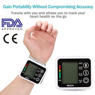 Electronic Wrist Blood Pressure Monitor Automatic Digital Bp Blood Pulse Meter