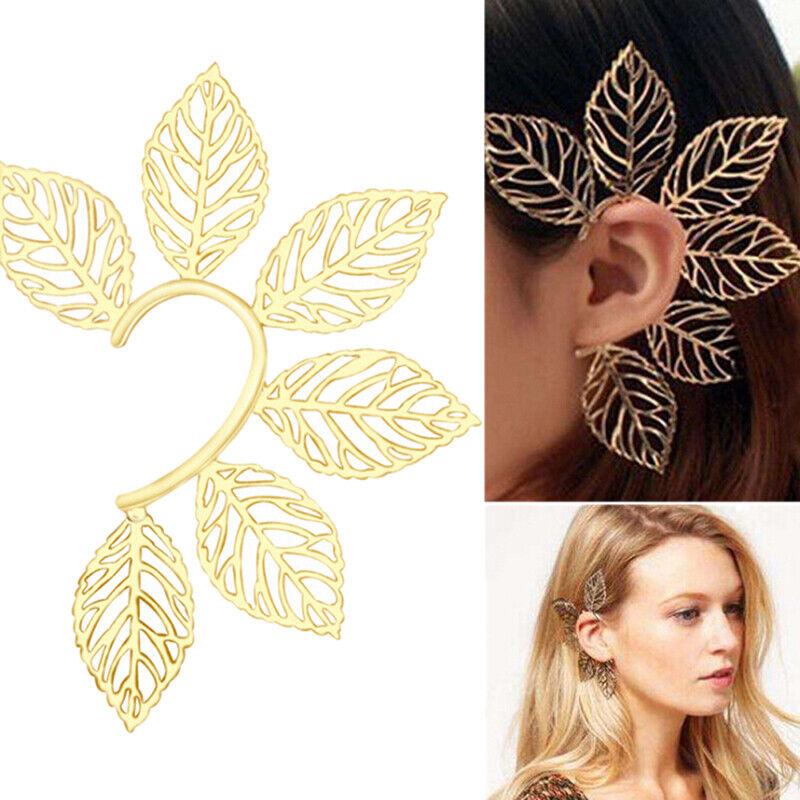 Fashion Leaf Clip Ear Cuff Studs Women's Punk Wrap Cartilage