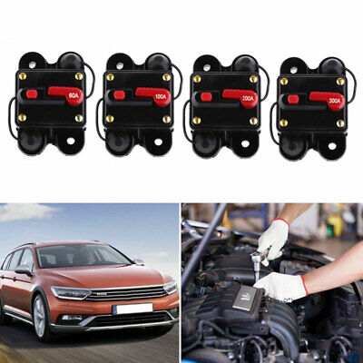 Car Audio Fuse Protector Holder Resettable Panel Mounted Circuit Breaker Dc 12v