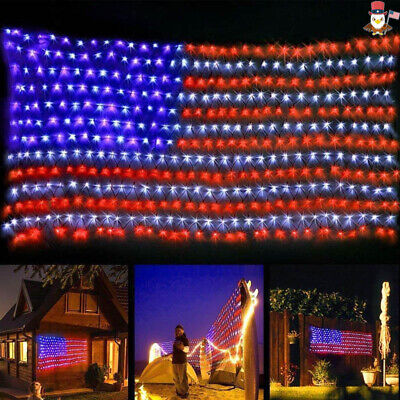 LED Flag Net Lights American USA Flag Light For Festival Party Decor Out Indoor ()