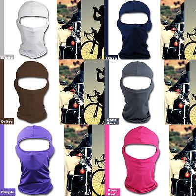 Lycra Full Face Mask Balaclava Ski Neck Summer Sun Ultra UV Protection new