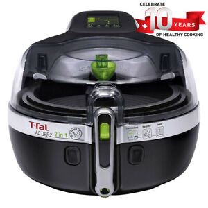T-Fal YV960151 ActiFry 2 in 1 Air Fryer, Automatically Stirs, Bl