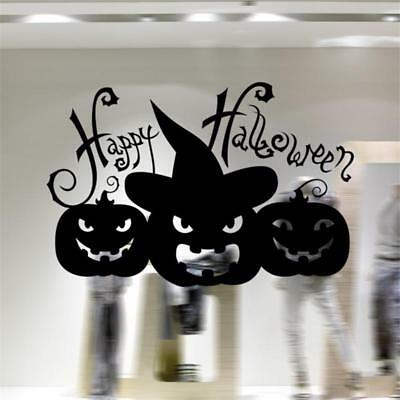 Halloween Smiling Pumpkin Wall Vinyl Sticker Home Office Window Decor Mural Tool - Halloween Wall Decorations