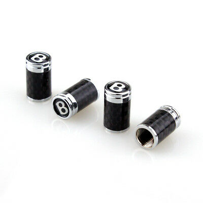 Bentley Continental Flying Spur Fiber Tire Valve/Stem Caps 4 PCS