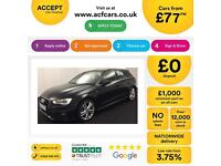Black AUDI A3 SALOON 1.2 1.4 1.6 1.8 2.0 TFSI Petrol S LINE FROM £77 PER WEEK!