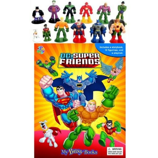 BN: DC Super Friends My Busy Book including 12 figurines and a playmat