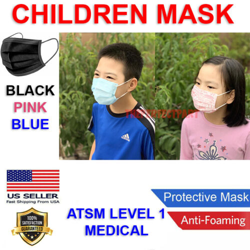 CHILD Face Mask MEDICAL Surgical Dental Disposable 3-PLY Earloop Mouth Cover USA