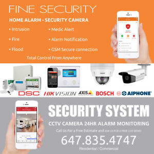 INSTALLATIONS ALARM MONITORING ! SECURITY CAMERAS ! SMART HOME