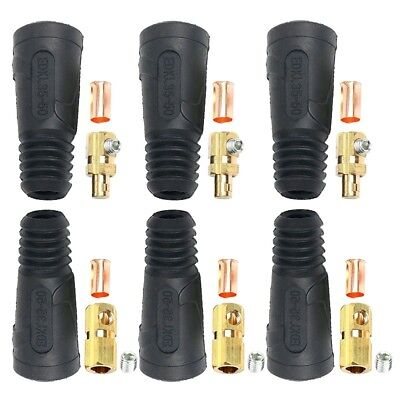 3 Pair Male Female Welding Cable Quick Connector 200-300a 4-10 35-50mm