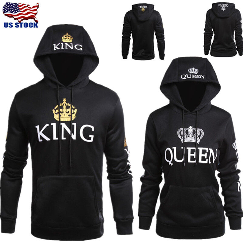 Fashion Matching Couple Hoodies King and Queen Couple Sweats