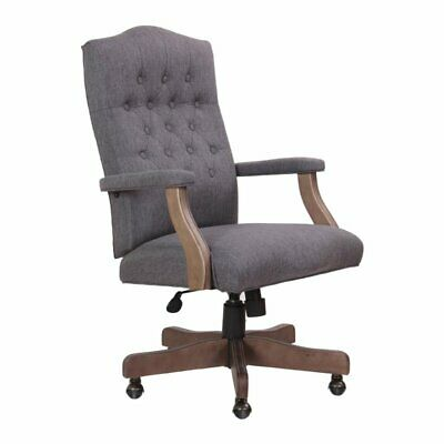 Boss Refined Rustic Executive Chair In Slate Gray Commercial Grade