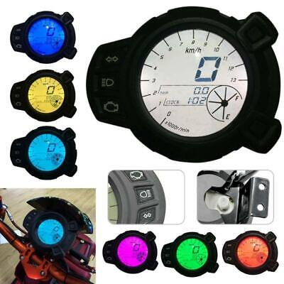 MOTORCYCLE SPEEDOMETER ODOMETER TACHOMETER 7 COLOR BACKLIGHT FOR YAMAH